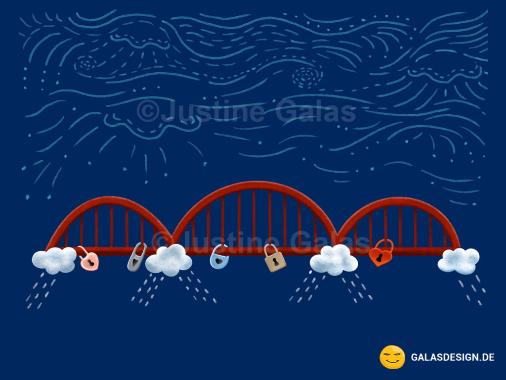 Illustration Hohenzollernbrücke